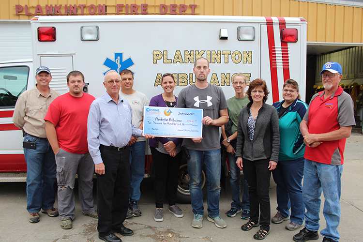 Plankinton Ambulance Receives Operation Round-Up Grant