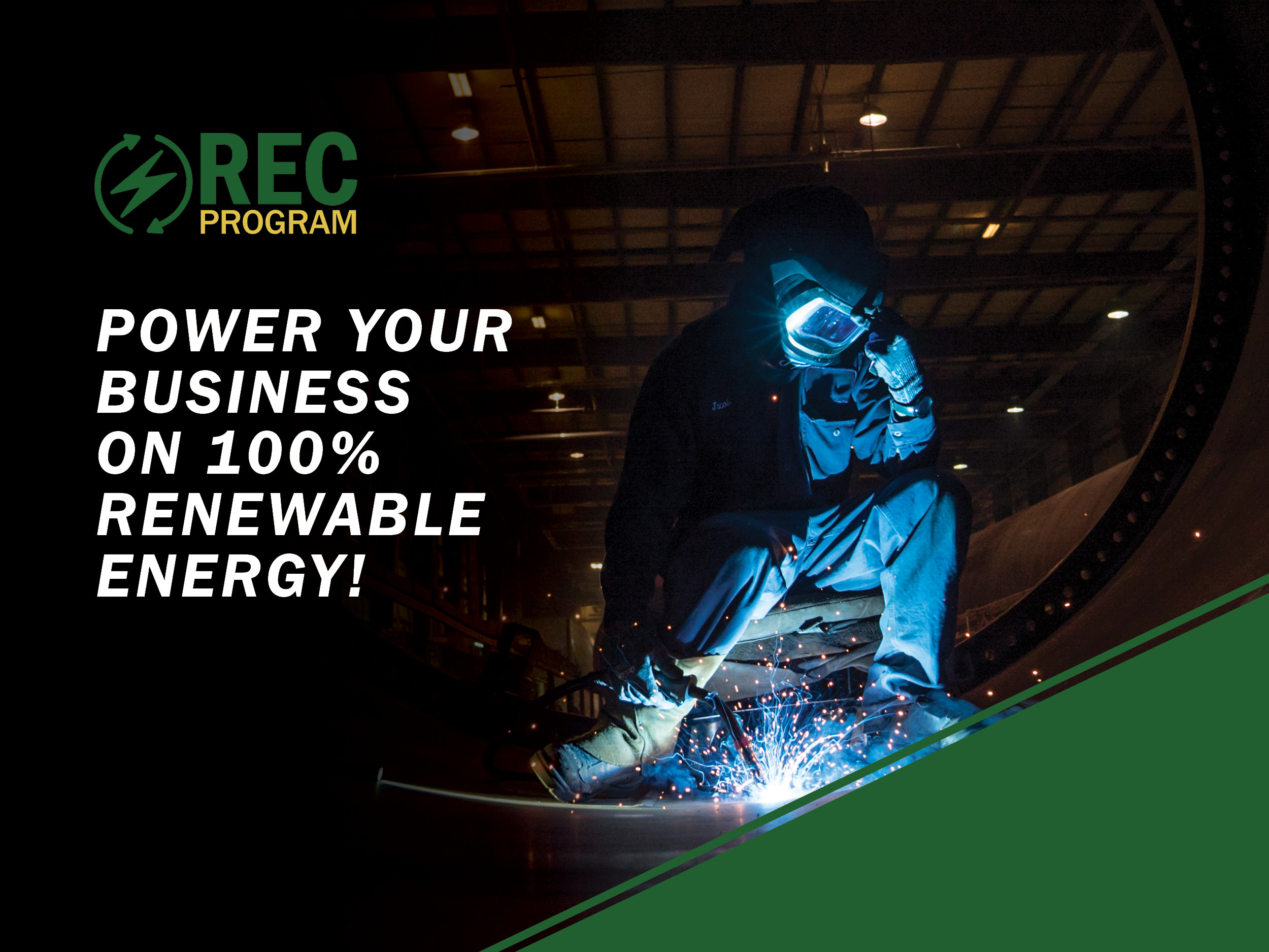 Power your Business on 100% renewable