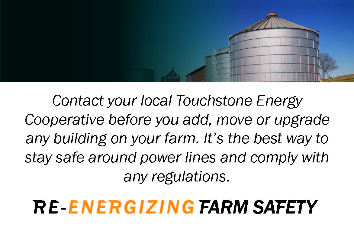 Contact your electric cooperative for any new grain bins or upgrades on your farm