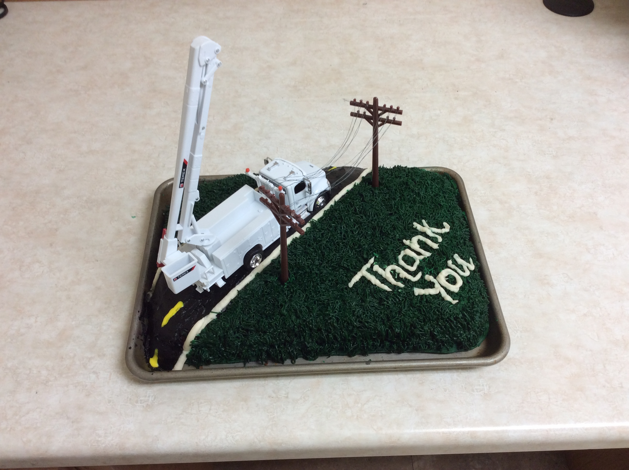 Lineman Appreciation Cake